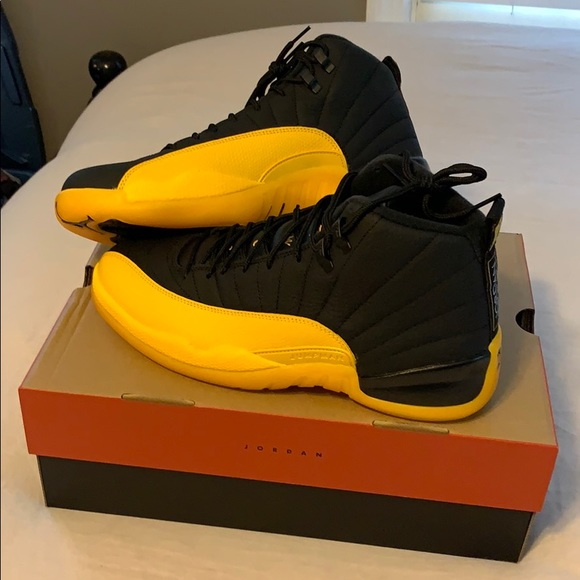 Jordan Shoes Air 12 Retro Black University Gold Size 10 Poshmark